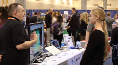Unidata staff participate in numerous scientific conferences to talk with scientists, educators, and students about Unidata offerings.